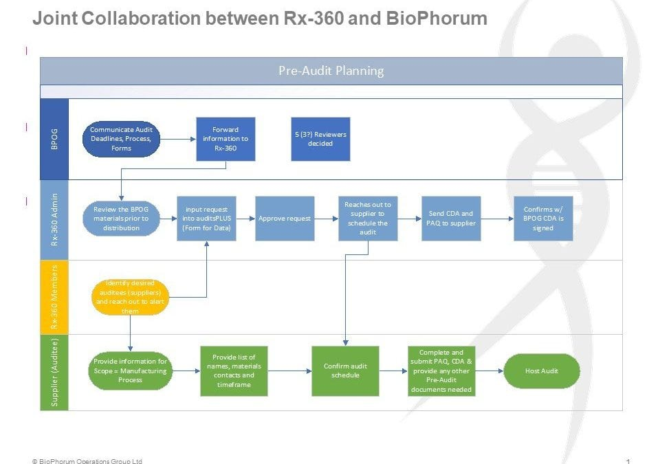 BioPhorum and Rx-360 pilot a joint audit model for single-use systems