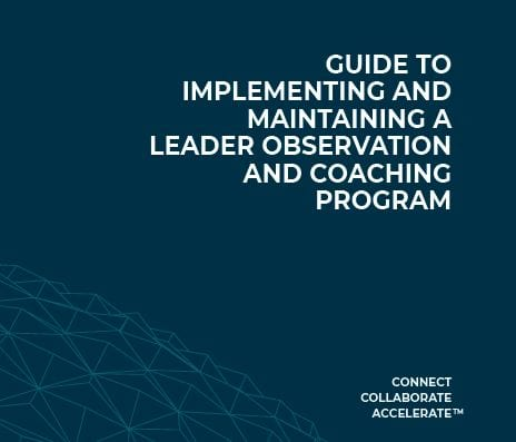 Guide to implementing and maintaining a leader observation and coaching program