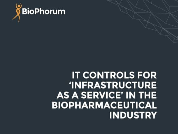 IT controls for 'infrastructure as a service' in the biopharmaceutical industry