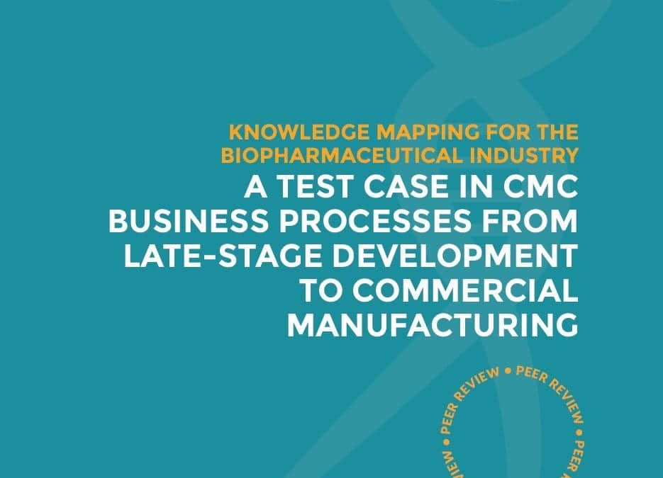 Knowledge mapping for the biopharmaceutical industry: A test case in CMC business processes from late-stage development to commercial manufacturing (paper and tool)