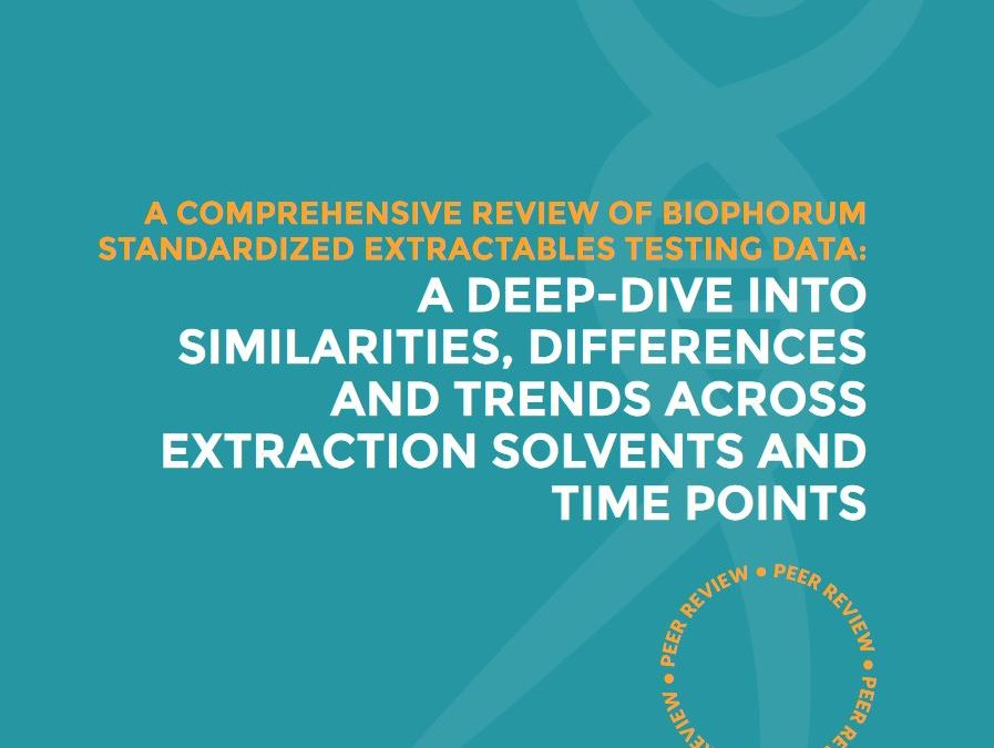 Extractables: A comprehensive review of BioPhorum standardized extractables testing data – a deep dive into similarities, differences and trends across extraction solvents and time points